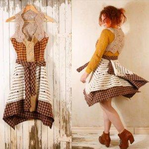 crochet bohemian dress pattern