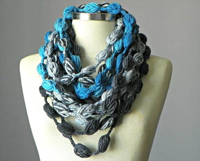 Crochet Infinity scarf and necklace