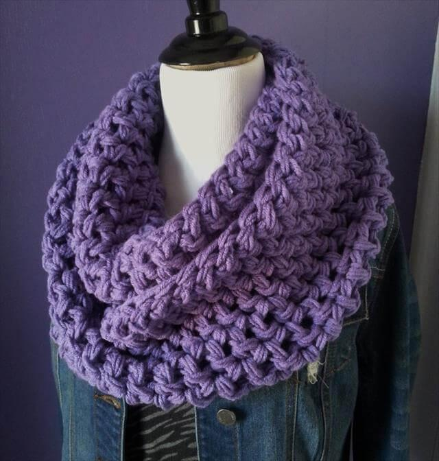 Stylish Crochet Infinity Scarf