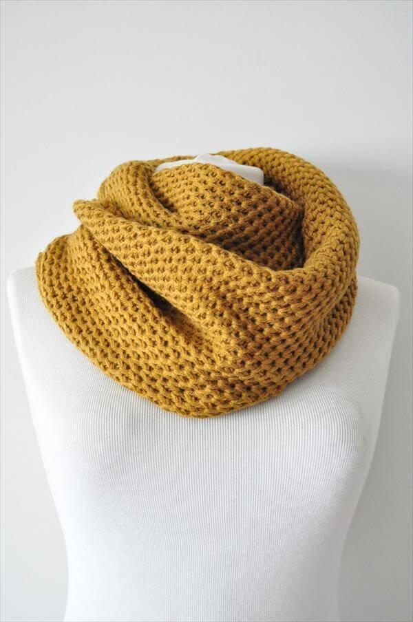 crochet infinity scarf pattern for women