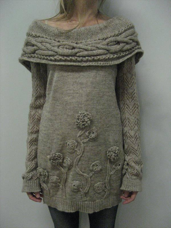 free winter crochet tunic pattern