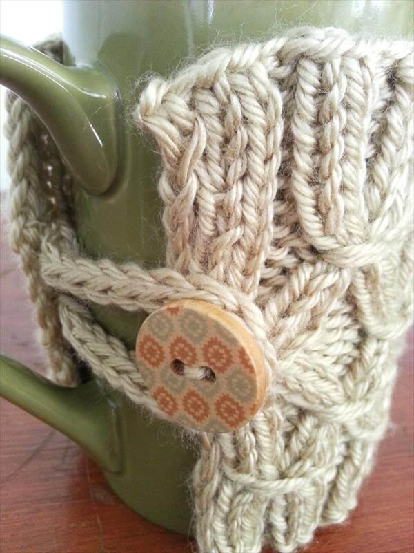 diy crochet mug warmer