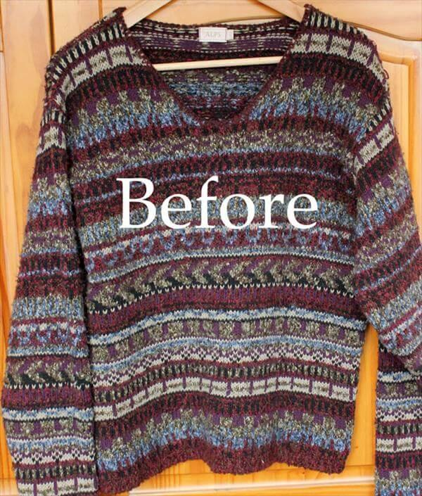 before preview of sweater