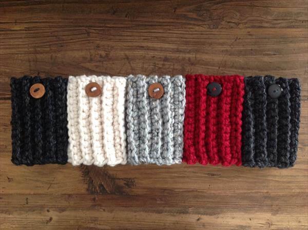 free crochet book cuffs pattern