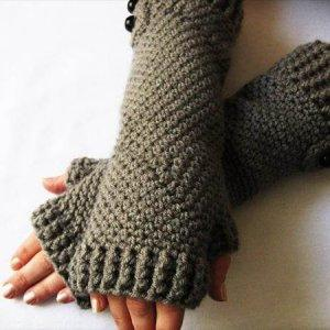 easy crochet gloves pattern