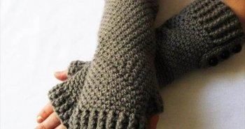 easy crochet gloves pattern