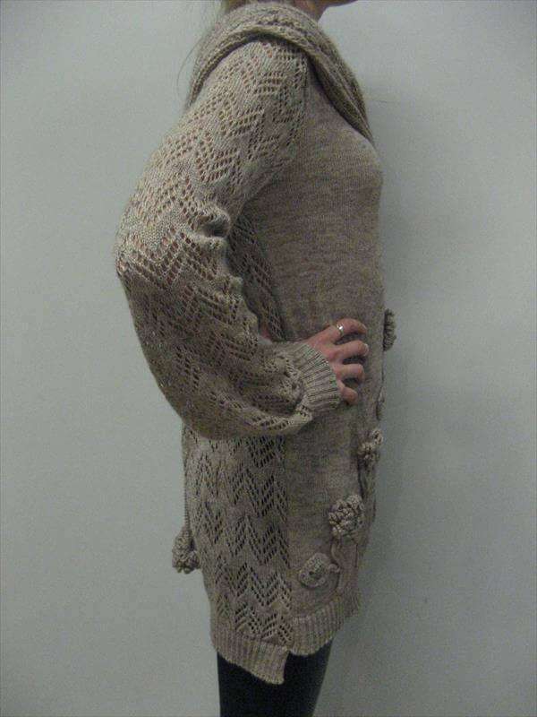 Lacy Tunic Beige Crocheted Dress – 101 Crochet Patterns
