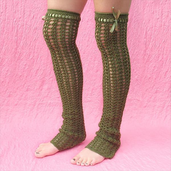 chic crochet leg warmer pattern
