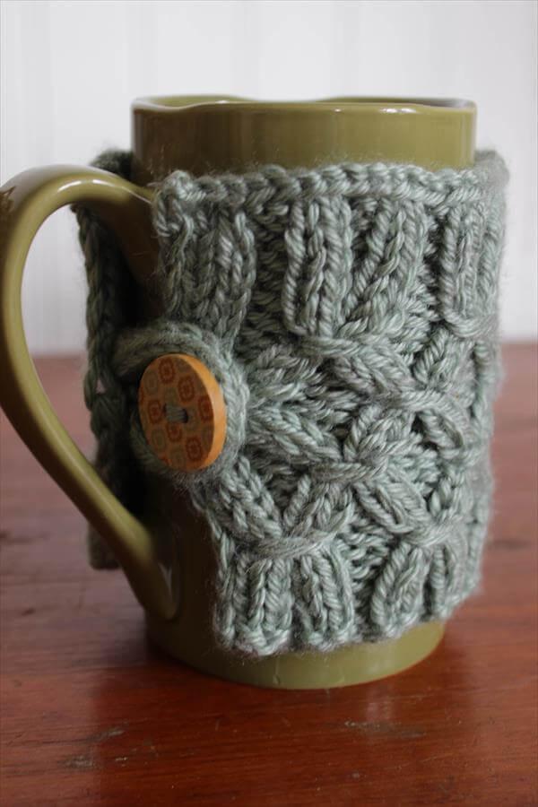 free crochet mug warmer pattern