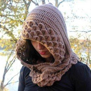 easy women crochet hood pattern