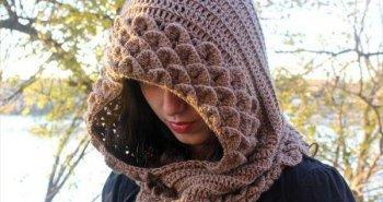 easy women crochet hood pattern