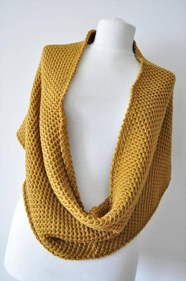crochet Turkish styled infinity scarf