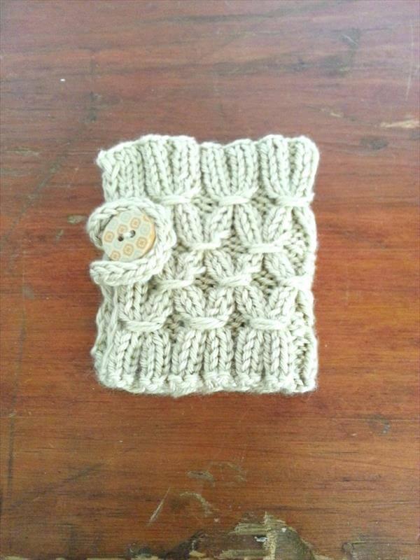 easy crochet mug warmer