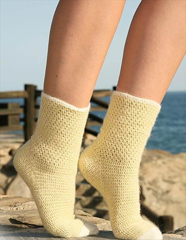 6 Free Crochet Socks Pattern 101 Crochet Patterns