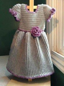 Crochet Baby Winter Dress