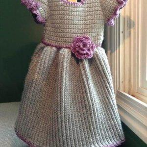 easy winter baby crochet dress pattern