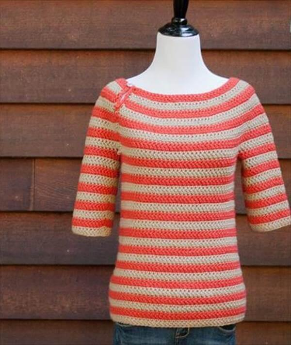 diy free crochet women sweater
