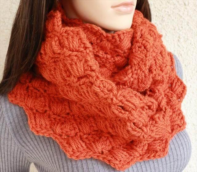 Crochet Infinity Scarf Cowl Pattern