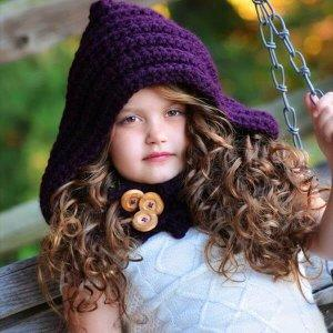 free crochet hooded cowl pattern