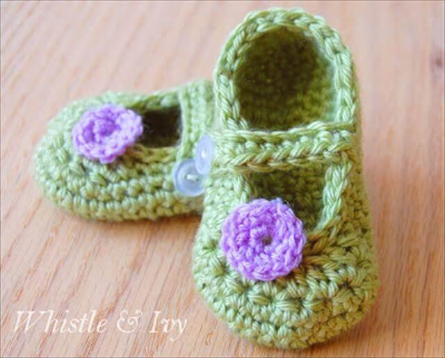 Crochet Little Dot Mary Janes Pattern