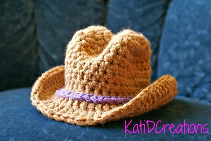 crochet cow boy hat pattern