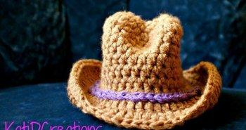 diy crochet cow boy hat pattern with wide brim