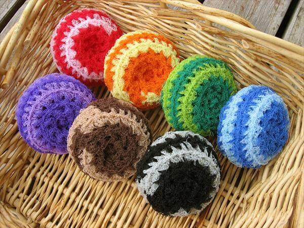 color crochet scrubbies