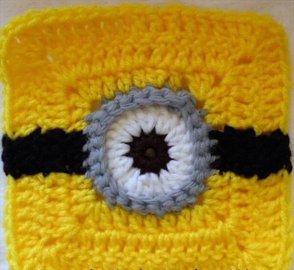 free minion crochet square pattern
