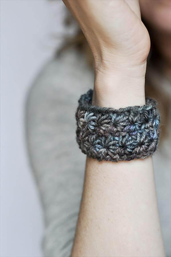free crochet bracelet pattern