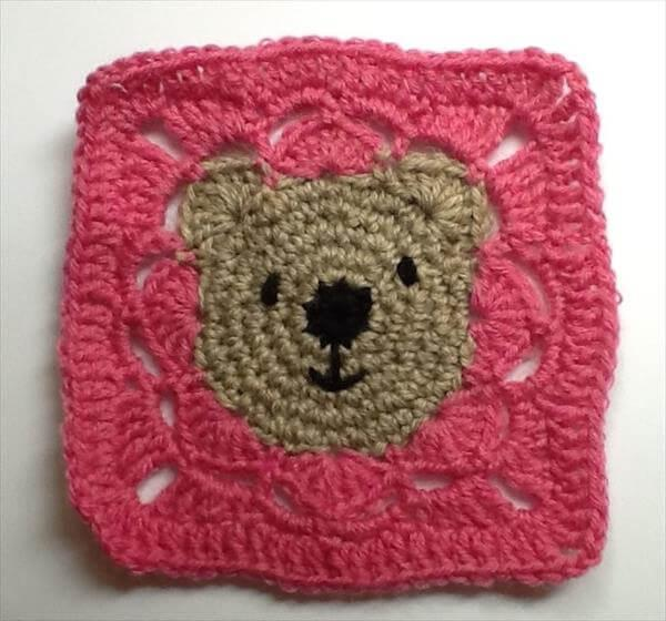 free crochet teddy bear granny square pattern