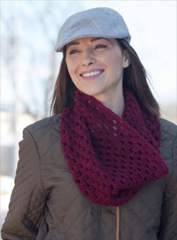 easy cluster cowl pattern