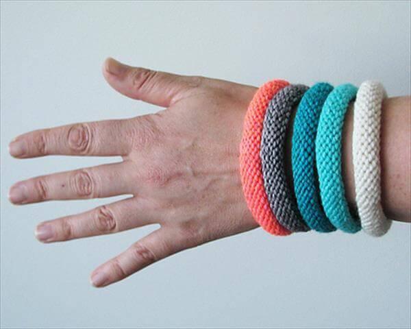 knitted bangle pattern