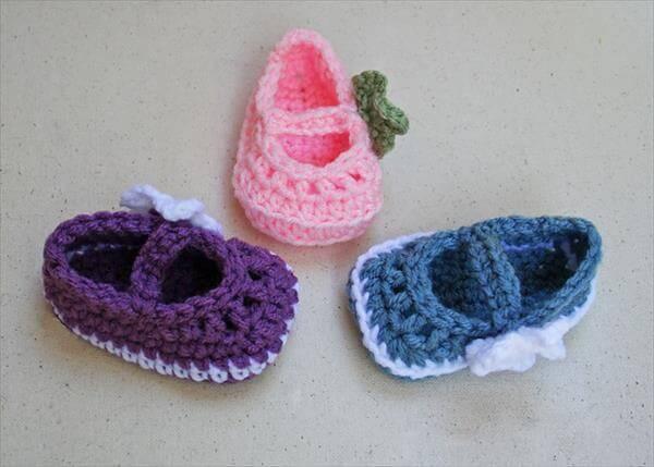 baby crochet sheos pattern