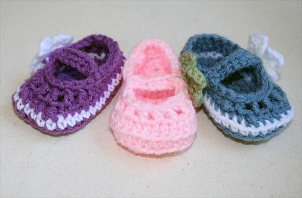 winter crochet baby booties