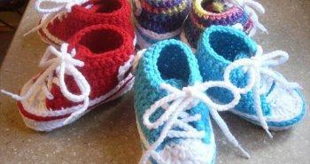 free crochet baby converse pattern