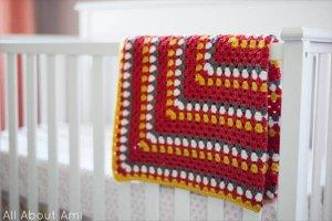 Colorful Granny Square Baby Blanket