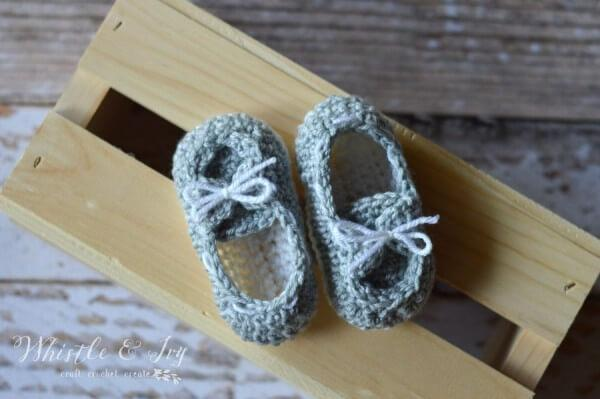 free crochet baby boat slipper pattern