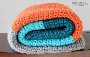 Simple Striped Crochet Blanket