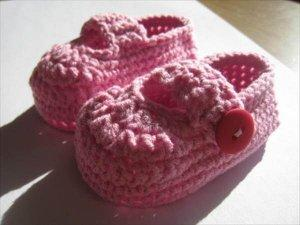 Simple Booties Pattern from Crochet