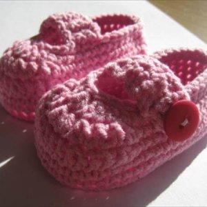 easy crochet baby shoes pattern