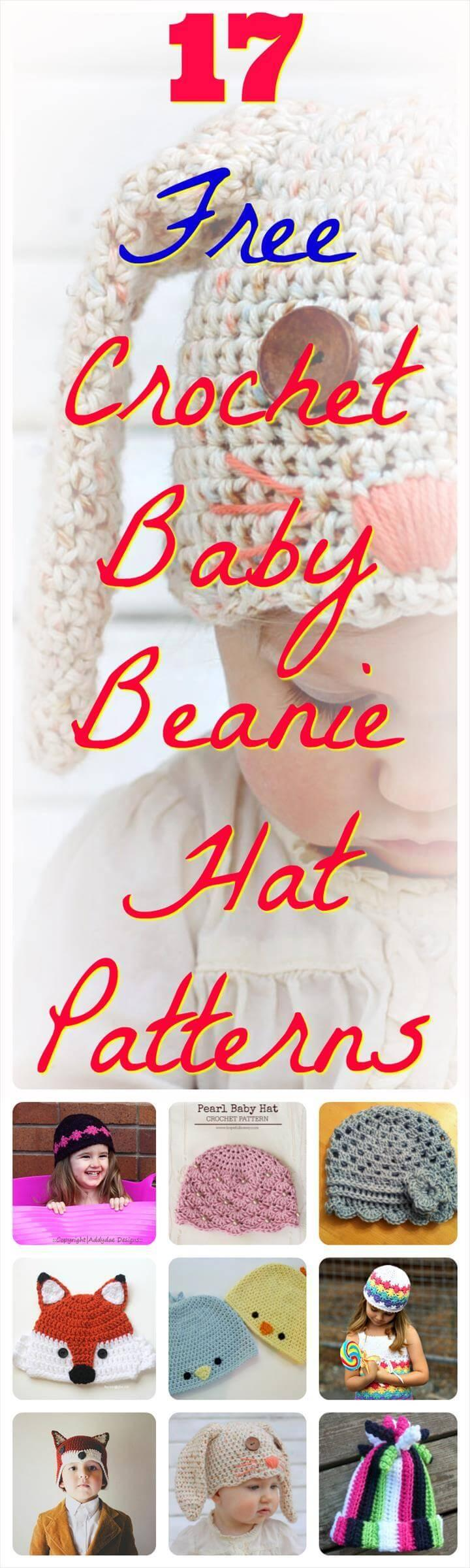 Free Crochet Baby Beanie Hat Patterns