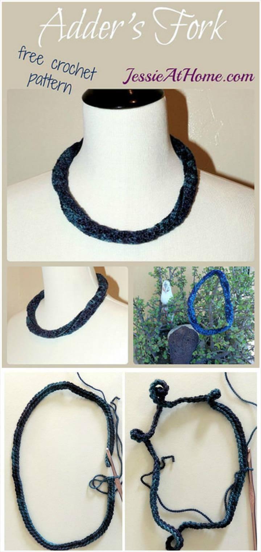 free crochet adders fork free pattern