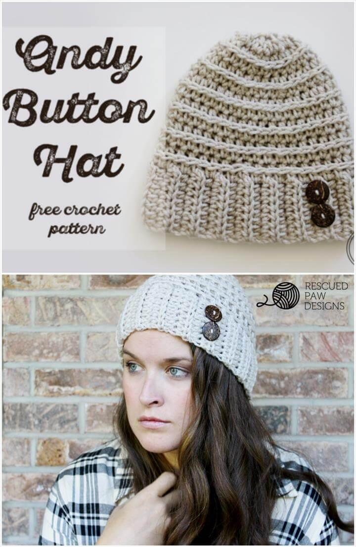 free crochet andy button pattern