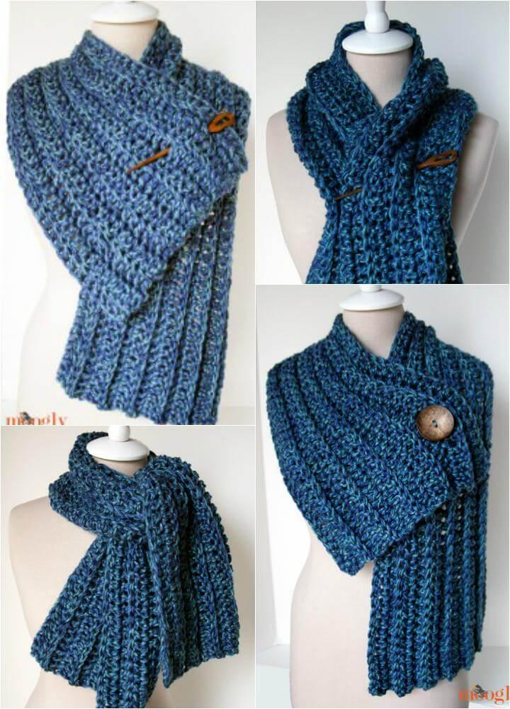 easy crochet big rub scarf
