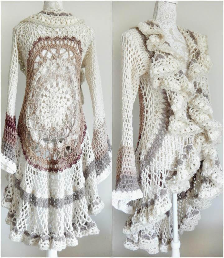 12 Free Crochet Patterns For Circular Vest Jacket 101 Crochet Patterns