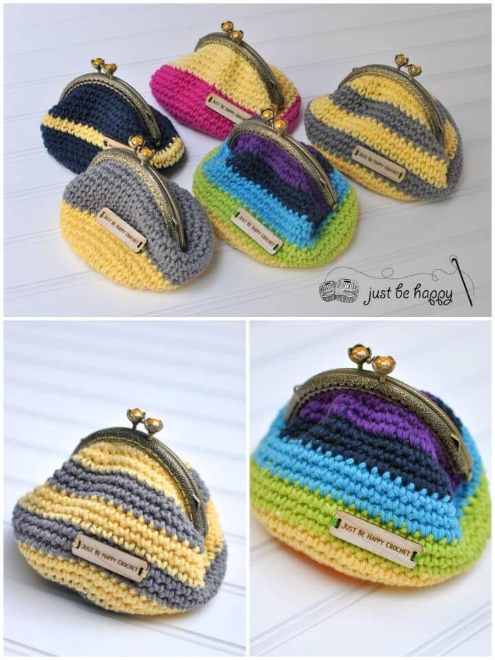 super cute crochet coin purses