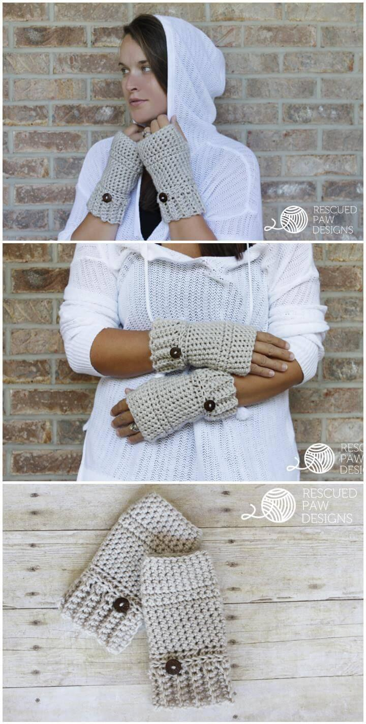free crochet fingerless gloves or hand warmers
