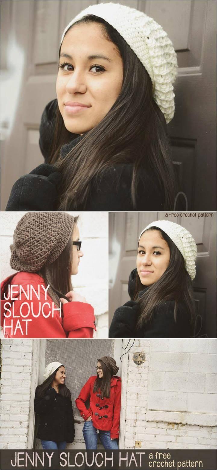 free crochet jenny slouchy hat pattern