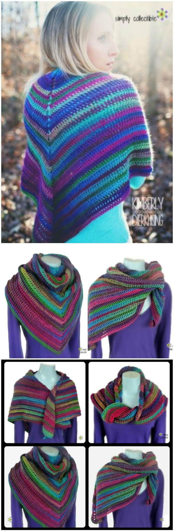crochet lily's rose garden shawl or cowl