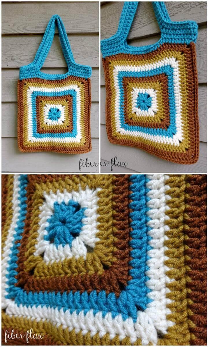 precious crochet nature walk tote